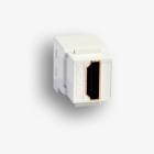 Gniazdo keystone typu HDMI 2.0 żeńskie, kolor biały