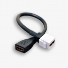 Gniazdo keystone typu HDMI żeńskie na kablu