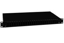 Przełącznica wysuwana EmiterNet 19'' 1U 24xSC duplex, teleskopowa, czarna