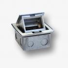 Puszka blatowa biała wraz z ramką 3-modułowa do montażu osprzętu 22,5x45 (45x45)