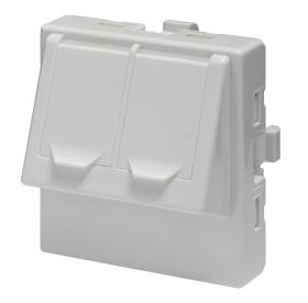 Adapter dwumodułowy podwójny kątowy 2xRJ45