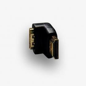 Adapter HDMI F/HDMI M kątowy 90 stopni