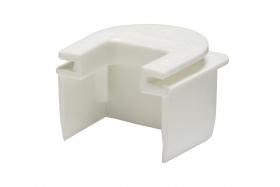 Łącznik z puszką natynkową i osprzętową E 25x18 K/PU/ biały