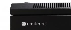 Szafa serwerowa ramowa stojąca EmiterNet Top-S (drzwi z szybą) logo