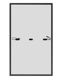 panel PV JA Solar rama czarna tył