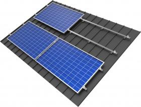 konstrukcja z panelami w układzie poziomym