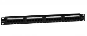 """Panel 19"""" 24xRJ45 UTP kat. 5e (1U) z półką, EMS/PPFA652K248C5E"""