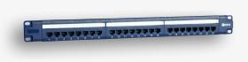 "Panel 19"", 24xRJ45 UTP kat.5e (1U) niebieski PoE"