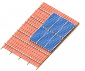 konstrukcja z panelami w układzie pionowym