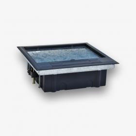 Puszka podłogowa 12-modułowa do montażu osprzętu 22,5x45 (45x45), montaż prosty