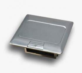 Puszka blatowo-podłogowa mini 3M wraz z ramką do montażu osprzętu 22,5x45 (45x45)