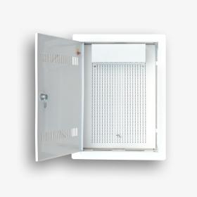 Telekomunikacyjna skrzynka mieszkaniowa EmiterNet TSM-PW2Z otwarta