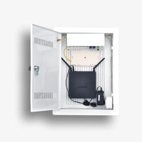 Telekomunikacyjna skrzynka mieszkaniowa EmiterNet TSM-PW2Z wyposażona