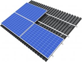 konstrukcja z panelami w układzie poziomym - blacha trapezowa